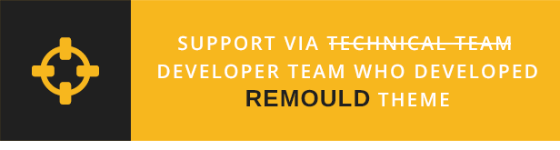 Remould WordPress Theme - Support via developer team